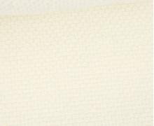 Weicher Waffel Frottee - Baumwolle - 210g - Uni - Warmweiß