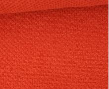 Weicher Waffel Frottee - Baumwolle - 210g - Uni - Orangerot