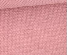 Weicher Waffel Frottee - Baumwolle - 210g - Uni - Altrosa