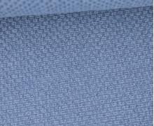 Weicher Waffel Frottee - Baumwolle - 210g - Uni - Taubenblau