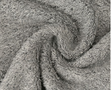 Frottee Melange - Uni - Grau
