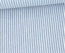 Jeans - Jeansstoff - Denim -  Weiße Streifen - Hellblau