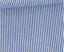 Jeans - Jeansstoff - Denim -  Weiße Streifen - Jeansblau