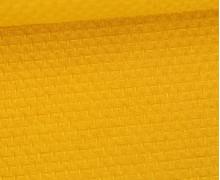 Waffel Struktur Piqué - Baumwolle - 210g - Maisgelb
