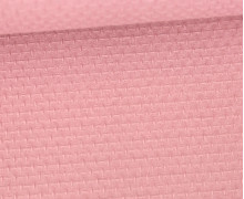Waffel Struktur Piqué - Baumwolle - 210g - Altrosa