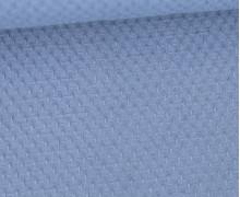 Waffel Struktur Piqué - Baumwolle - 210g - Taubenblau