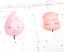 Sommersweat - Bio-Qualität - Cotton Candy - Paneel - Rosé - Little Love  - abby and me