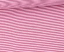 Glattes Bündchen - Streifen - Stripes - 2mm - Schlauchware - Babyrosa/Altrosa
