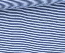 Glattes Bündchen - Streifen - Stripes - 2mm - Schlauchware - Pastellblau/Taubenblau