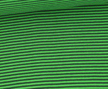 Glattes Bündchen - Streifen - Stripes - 2mm - Schlauchware - Grasgrün/Tannengrün