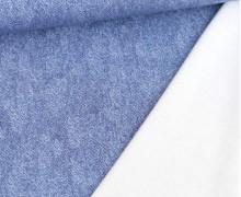 Leichter Kuschelsweat - French Terry - Jeansoptik - Hellblau