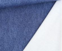 Leichter Kuschelsweat - French Terry - Jeansoptik - Jeansblau