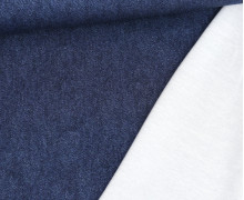 Leichter Kuschelsweat - French Terry - Jeansoptik - Dunkelblau