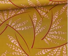 Viskose - Blusenstoff - Rosella Leaves - Penelope - Senfgelb