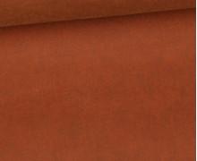 Oil Skin - Gewachste Baumwolle - Uni - Rostbraun