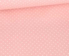 Beschichtete Baumwolle - Petit Dots - Poppy - Babyrosa/Weiß