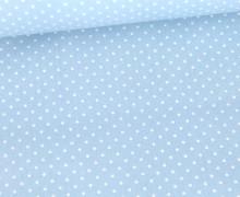 Beschichtete Baumwolle - Petit Dots - Poppy - Hellblau/Weiß