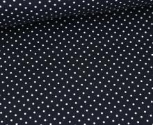 Beschichtete Baumwolle - Petit Dots - Poppy - Nachtblau/Weiß