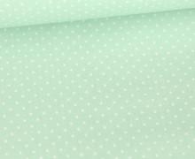 Beschichtete Baumwolle - Petit Dots - Poppy - Weißgrün/Weiß