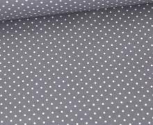 Beschichtete Baumwolle - Petit Dots - Poppy - Grau/Weiß
