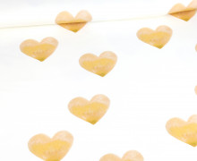 Sommersweat - Bio Qualität - Lots Of Love - Aquarell Herzen - senf - abby and me