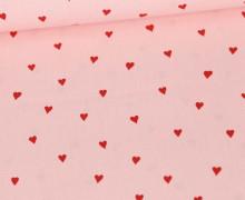 Baumwollstoff - You´re Sweetheart - Poppy - Babyrosa