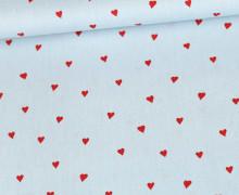 Baumwollstoff - You´re Sweetheart - Poppy - Pastellblau