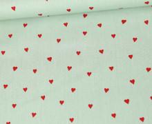 Baumwollstoff - You´re Sweetheart - Poppy - Lichtgrün Hell