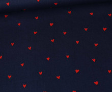 Baumwollstoff - You´re Sweetheart - Poppy - Nachtblau