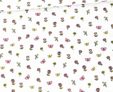 Baumwollstoff - Pretty Princess - Poppy - Weiss