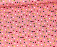 Baumwollstoff - Happy Feeling - Poppy - Altrosa