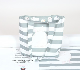DIY-NÄHSET - Motivbeutel - Shopper - Adorable Bunnies - abby and me - Blau