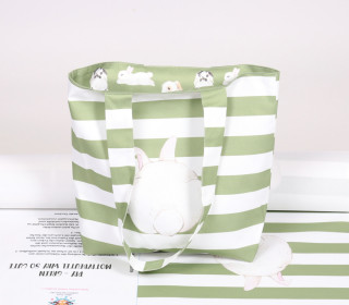 DIY-NÄHSET - Motivbeutel - Shopper - Adorable Bunnies - abby and me - Grün