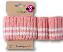 Bio-Bündchen - Cozy Stripes - 2 Stripes - Grobstrick - Sparkle - Multi - Cuff Me - Hamburger Liebe - Blassrosa Meliert