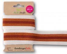 Streifenband - Stripe Me - College - 3 Stripes - Sparkle - Glitzer - Multi - Hamburger Liebe - Weiß