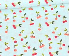 Baumwollstoff - Love You Cherry Much - Poppy - Mint