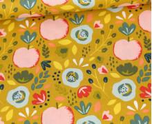 Baumwollstoff - Easy Peachy - Poppy - Senfgelb