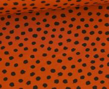 Jersey - Dots - Poppy - Rostorange