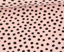 Jersey - Dots - Poppy - Blassrosa