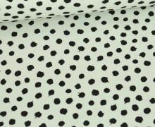 Jersey - Dots - Poppy - Weißgrün