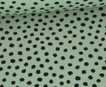 Jersey - Dots - Poppy - Lichtgrün
