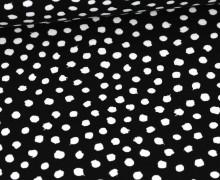 Jersey - Dots - Poppy - Schwarz