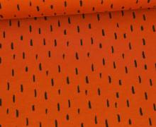 Jersey - Playful Stripes - Poppy - Rostorange