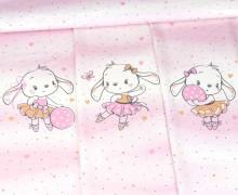 Sommersweat - Bio Qualität - Sweet Bunnies - Paneel - Weiß - abby and me