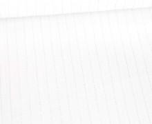 Viskose Crincle - Blusenstoff - Silberne Nadelstreifen - Weiß