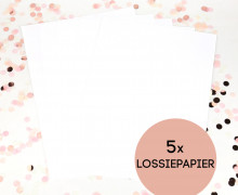 Lossiepapier - 5er Set - A4 - wasser- und reißfest - Siebdruckpapier