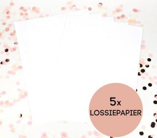 VORBESTELLUNG - Lossiepapier - 5er Set - A4 - wasser- und reißfest - Siebdruckpapier