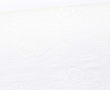 Musselin - Muslin - Double Gauze - Uni - Stickerei - Blumen - 130g - Schnuffeltuch - Windeltuch - Warmweiß