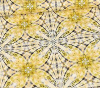 Baumwolle - Webware - Light Breeze - Ring A Roses - Pastellgelb - Batik Flowers - Gütermann