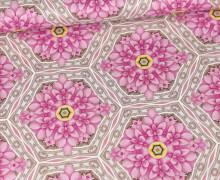 Baumwollstoff - Light Breeze - Ring A Roses - Rosa - Big Blossoms - Gütermann
